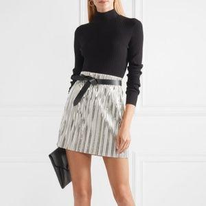Isabel Marant Etoile Delpha Metallic Silver Skirt